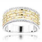 14K Designer Diamond Wedding Band 0.5ct