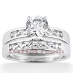 14K Diamond Designer Engagement Ring Set 0.80ct