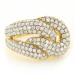 14K Gold Diamond Fashion Ring for Women 2.30ct