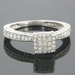 14K Gold Affordable Diamond Engagement Ring 0.78ct