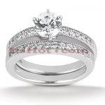 14K Gold Designer Diamond Engagement Ring Set 0.27ct