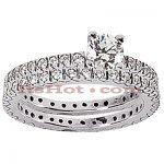 14K Gold Designer Diamond Engagement Ring Set 0.84ct