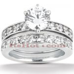 14K Gold Designer Diamond Engagement Ring Set 1.19ct