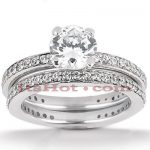 14K Gold Designer Diamond Engagement Ring Set 1.21ct