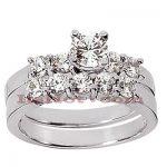 14K Gold Designer Diamond Engagement Ring Set 1.67ct