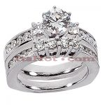 14K Gold Designer Diamond Engagement Ring Set 2.84ct