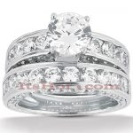 14K Gold Designer Diamond Engagement Ring Set 2.86ct