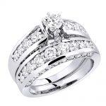 14K Gold Designer Diamond Engagement Ring Set 3.07ct