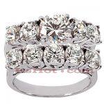 14K Gold Designer Diamond Engagement Ring Set 3.95ct