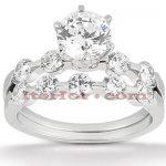 14K Gold Diamond Designer Engagement Ring Set 0.27ct