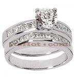 14K Gold Diamond Designer Engagement Ring Set 1.52ct