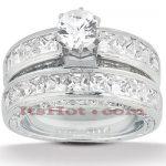 14K Gold Diamond Designer Engagement Ring Set 3.49ct