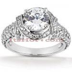 14K Gold Diamond Engagement Ring Mounting 0.69ct