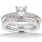 14K Gold Diamond Engagement Ring Set 0.73ct