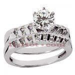 14K Gold Diamond Engagement Ring Set 1.26ct