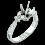 14K Gold Diamond Engagement Ring Setting 0.33ct