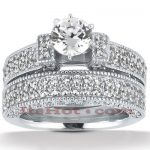 14K Gold Diamond Unique Engagement Ring Set 2.57ct