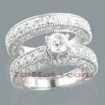 14K Gold Diamond Unique Engagement Ring Set 3.24ct