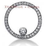 14K Gold Ladies Circle Diamond Pendant 1.23ct