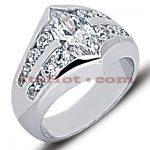 14K Gold Ladies Diamond Ring 2.35ct