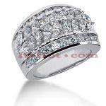 14K Gold Ladies Diamond Ring 2.73ct