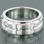 Mens Comfort-Fit Diamond Wedding Band 0.29ct 14K Gold
