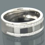 Mens Diamond Engagement Ring 0.44ct 14K Gold
