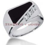14K Gold Men's Diamond Ring 0.15ct