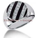 14K Gold Men's Diamond Ring 0.35ct