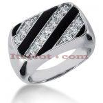 14K Gold Men's Diamond Ring 0.46ct