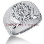 14K Gold Men's Diamond Ring 0.59ct