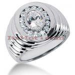 14K Gold Men's Diamond Ring 0.65ct
