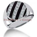 14K Gold Men's Diamond Ring 0.70ct