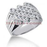 14K Gold Men's Diamond Ring 0.80ct