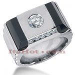 14K Gold Men's Diamond Ring 1.15ct