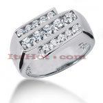 14K Gold Men's Diamond Ring 1.25ct