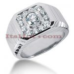 14K Gold Mens Diamond Ring 1.28ct