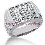 14K Gold Men's Diamond Ring 1.32ct