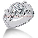 14K Gold Men's Diamond Ring 1.38ct