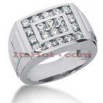 14K Gold Men's Diamond Ring 1.58ct