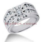 14K Gold Men's Diamond Ring 1.59ct