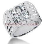 14K Gold Men's Diamond Ring 1.60ct