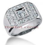 14K Gold Men's Diamond Ring 1.70ct
