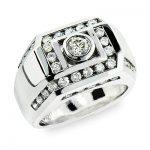 14K Gold Men's Diamond Ring 1.98ct