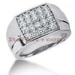 14K Gold Mens Diamond Ring 1ct