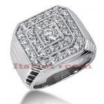 14K Gold Men's Diamond Ring 2.99ct