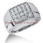 14K Gold Mens Diamond Ring 2ct