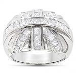14K Gold Mens Princess Cut Diamond Ring 2.22ct