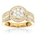 14K Gold Pre-Set Diamond Engagement Ring 1.21ct