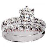 14K Gold Preset Diamond Engagement Ring Set 0.89ct
